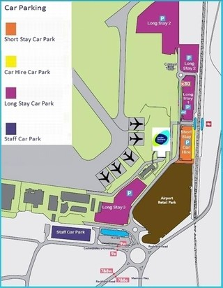 Map of Southend airport & terminal (SEN)