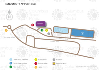 Map of London City airport & terminal (LCY)