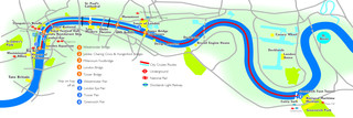 Map of London river Thames tours & cruises with City Cruises
