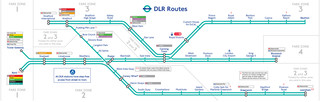 Map of London Docklands Light Railway network