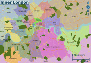 Map of London neighborhoods & quarters