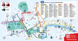 Map of London hop on hop off bus tour with The Original Tour